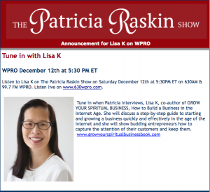 Lisa K on Patricia Raskin Show