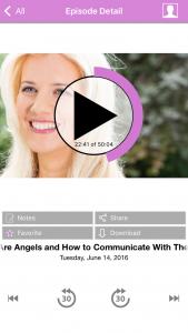 LisaK Radio App episode page