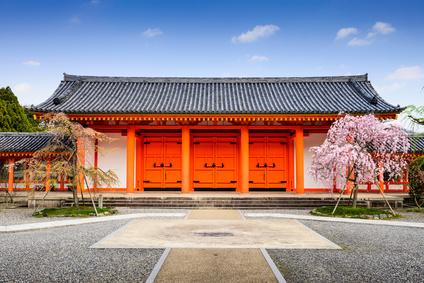Sanjusangendo Shrine gate in Kyoto, Japan.