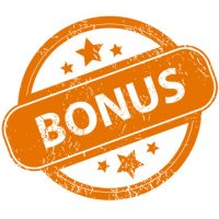 Grunge bonus logo on a white background