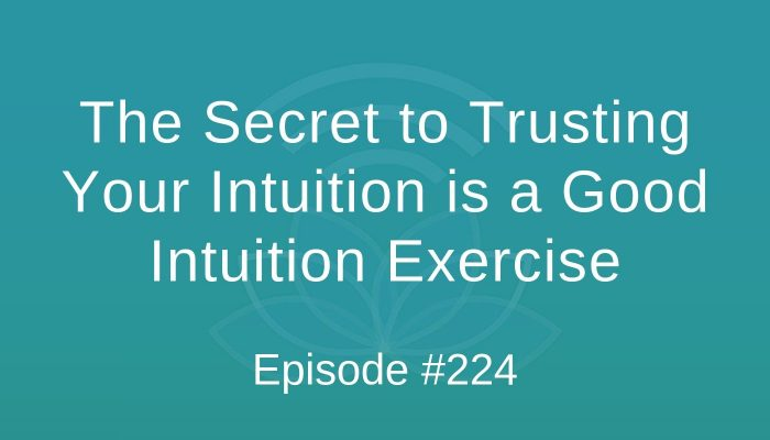The Secret to Trusting Your Intuition is a Good Intuition Exercise - Episode #224